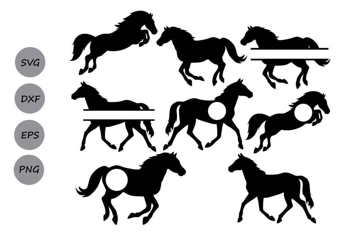 Horse Svg Files Horse Monogram Horse Clipart Horse Silhouette