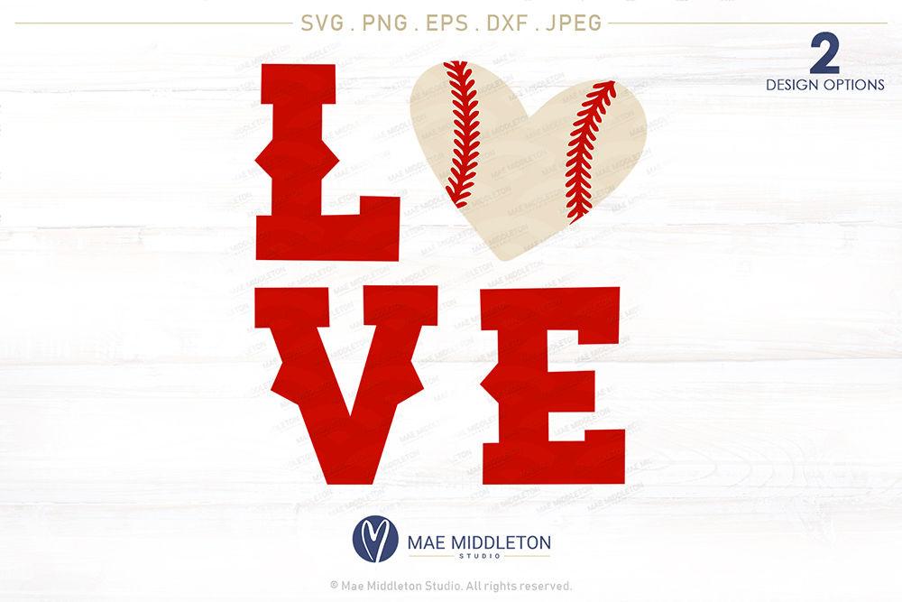 Love Baseball Printables Cut Files Jpg Png Eps Dxf Svg Files By Mae Middleton Studio Thehungryjpeg Com