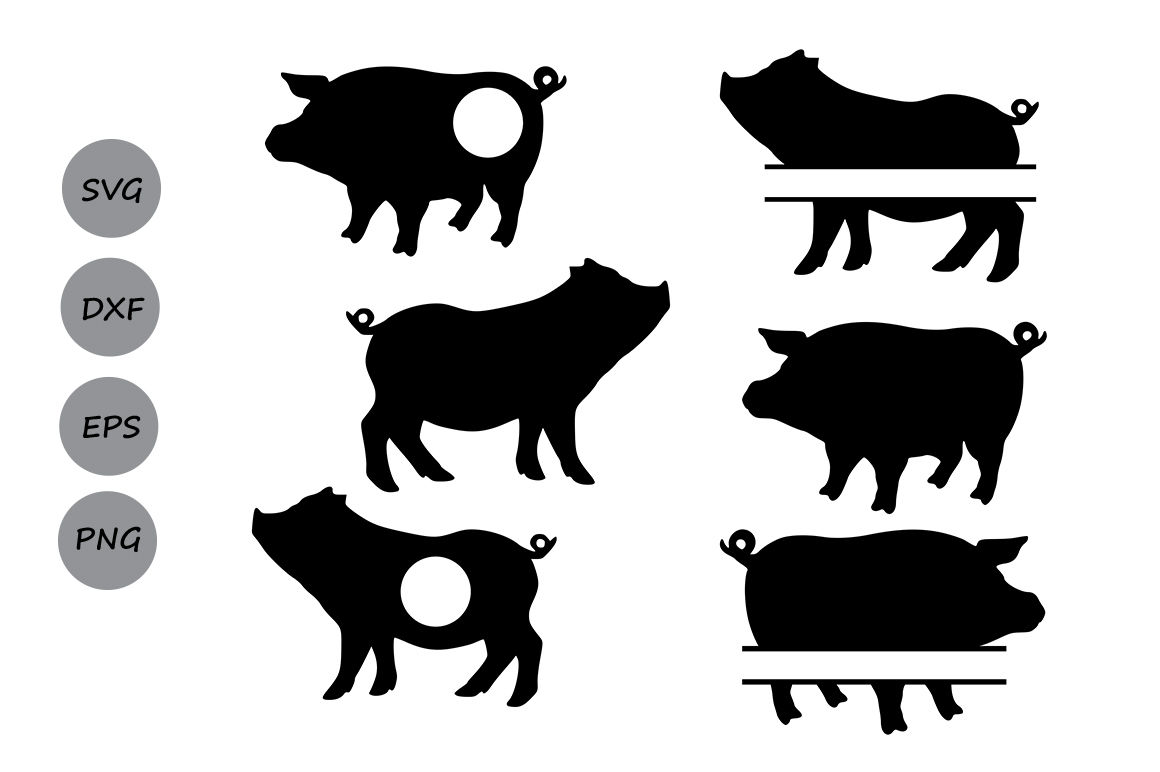 Pig Svg Cut File Pig Monogram Svg Farm Svg Farm Animals Svg By