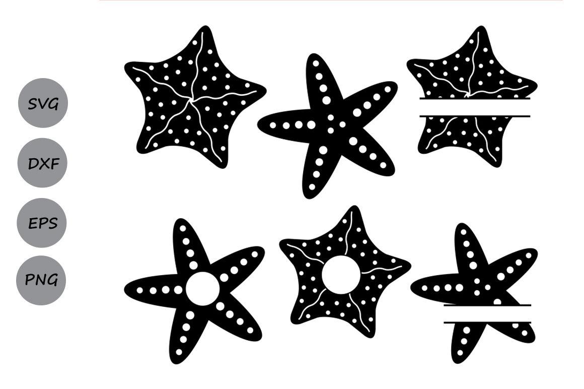 Starfish Svg Starfish Monogram Svg Nautical Sea Svg Silhouette Svg By Cosmosfineart Thehungryjpeg Com