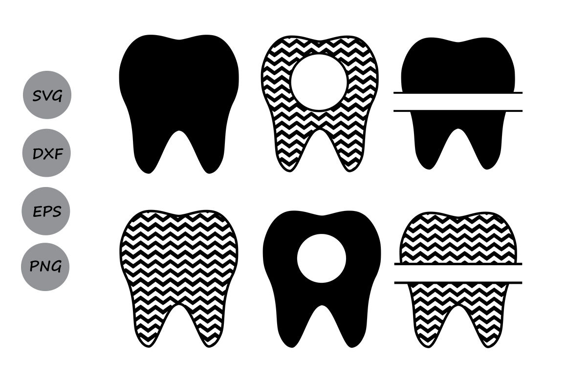 Tooth Svg Tooth Monogram Svg Teeth Svg Dentist Tooth Svg Cut