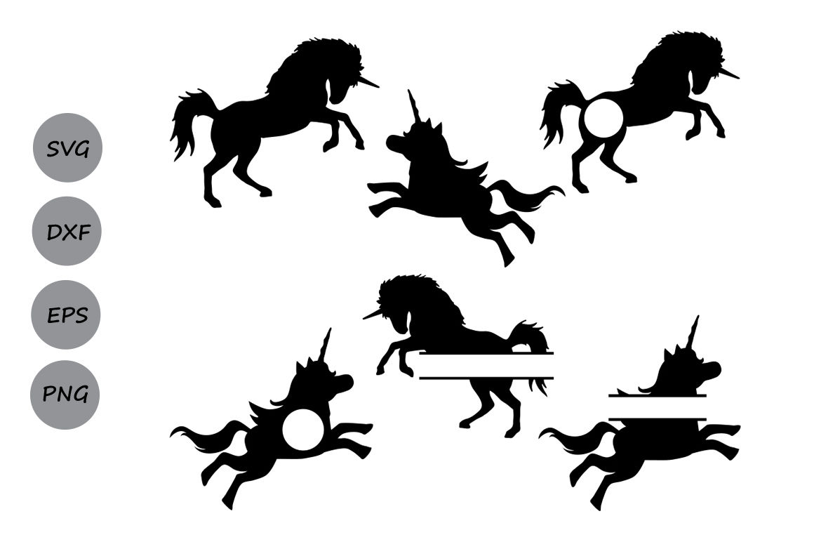 Unicorn Svg Files Unicorn Monogram Svg Unicorn Silhouette Svg