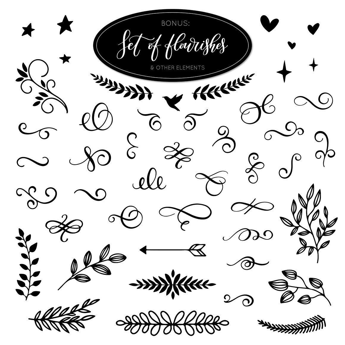 Inspirational Calligraphy Quotes By Hakuna Matata Thehungryjpeg Com