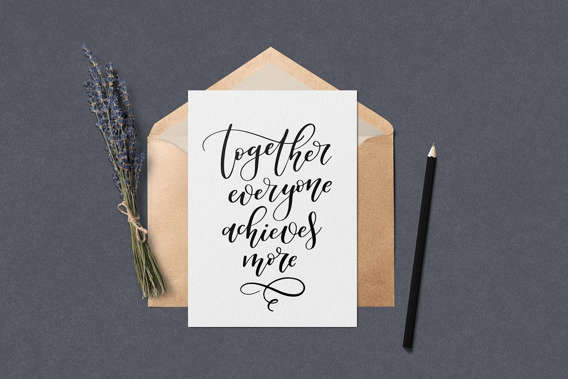 Inspirational Calligraphy Quotes By Hakuna Matata Thehungryjpeg Com