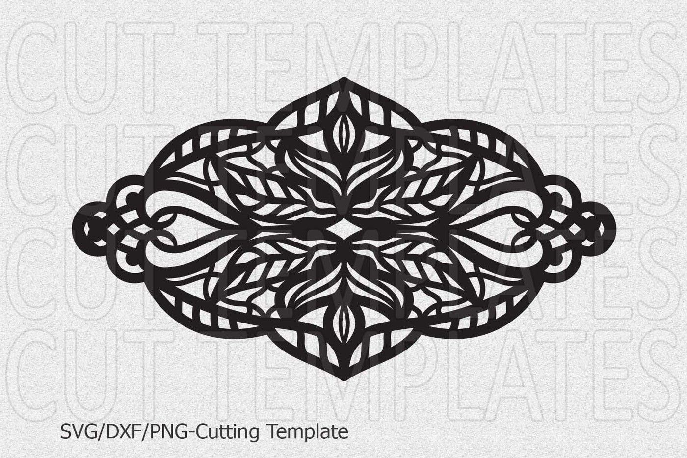 Cuff Bracelet Leather Jewelry Templates Lace Floral Svg Dxf Png