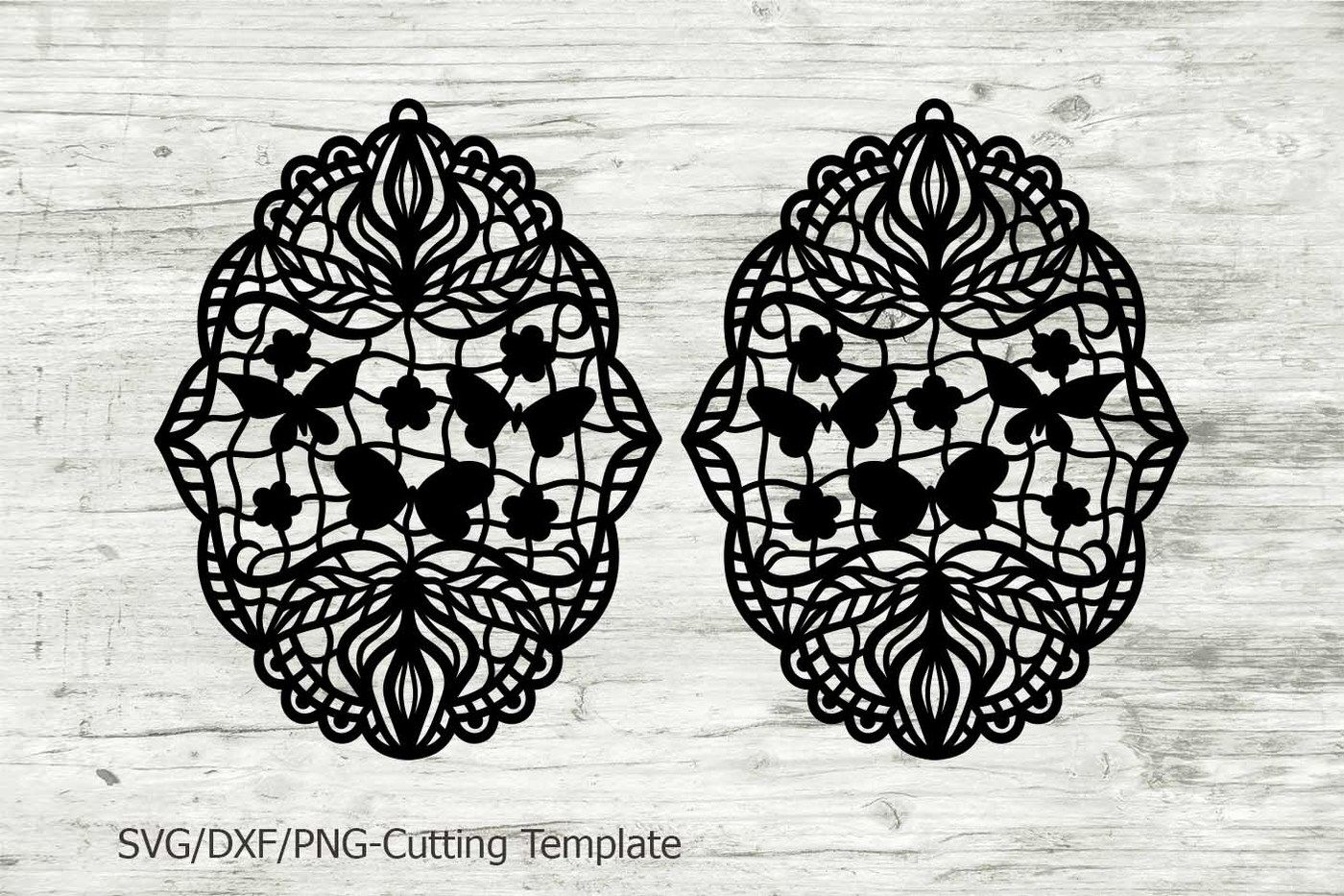 Earrings Pendant Cutting Laser Template Svg File Lace Floral