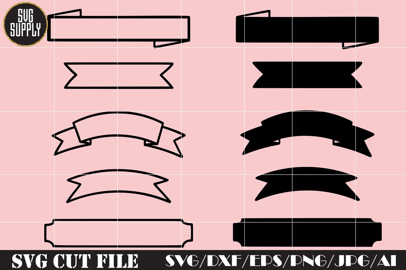 Embellishment Banner Svg Cut File By Svgsupply Thehungryjpeg Com