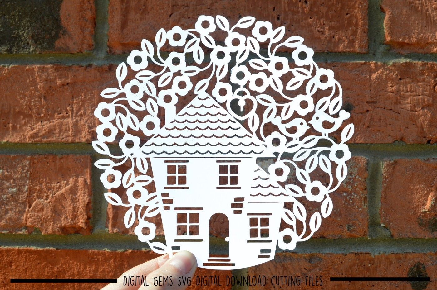 New Home Paper Cut Svg Dxf Eps Files By Digital Gems Thehungryjpeg Com