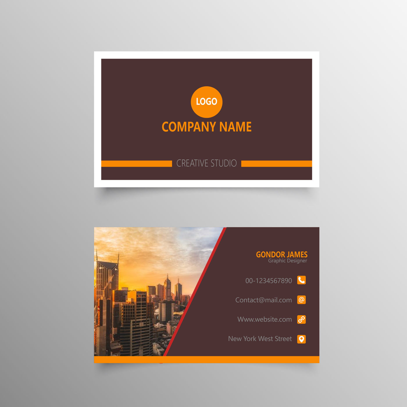 professional personal business cards template