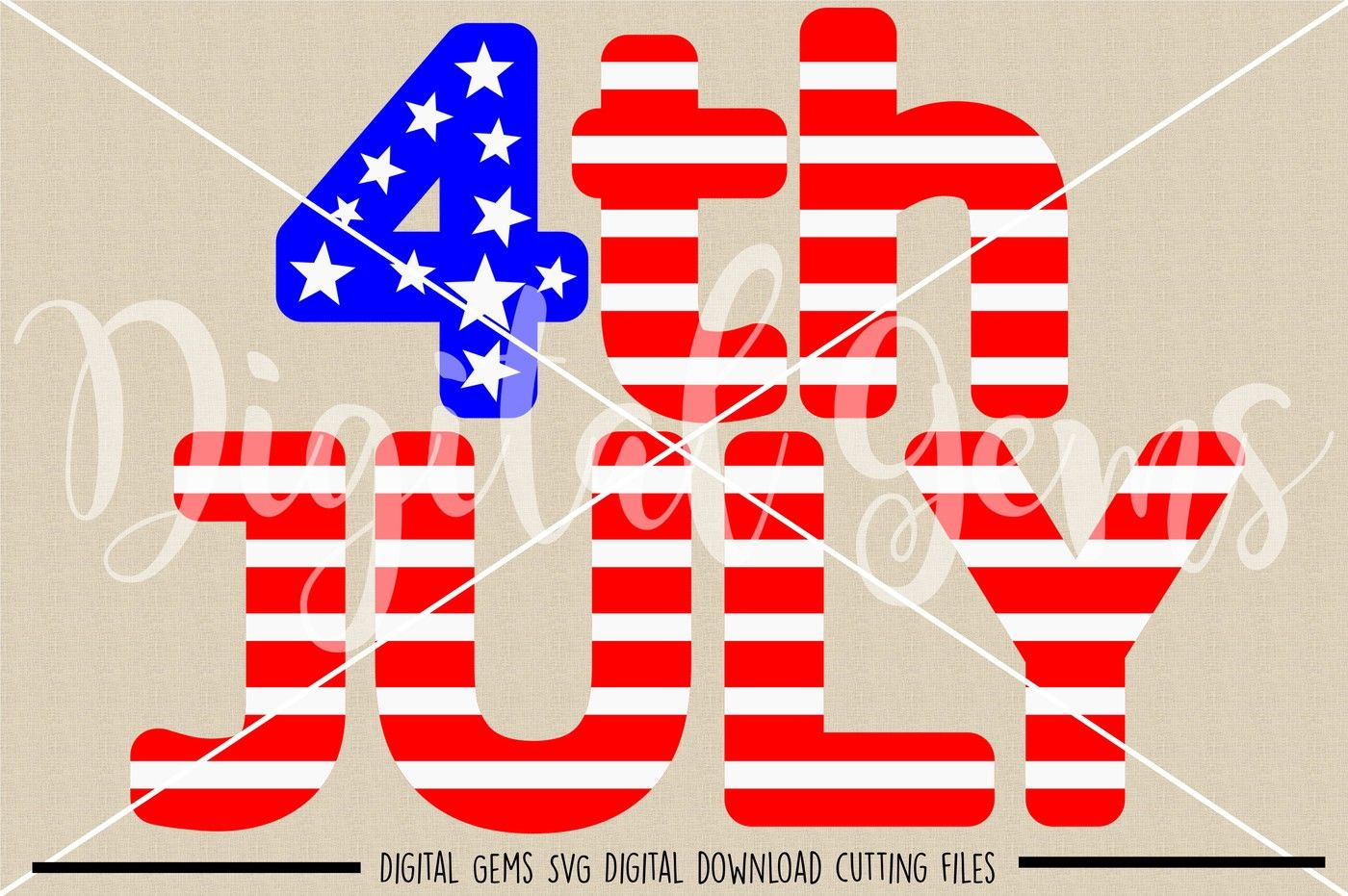 4th July Svg Dxf Eps Png Files By Digital Gems