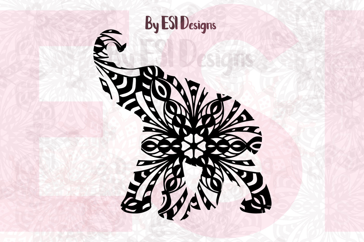 Mandala Elephant Design 1 Svg Dxf Eps Png By Esi Designs Thehungryjpeg Com Almost files can be used for commercial. mandala elephant design 1 svg dxf