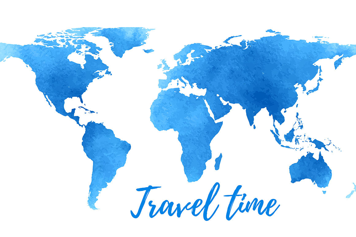 World Map On White Background Vector By Simple Things