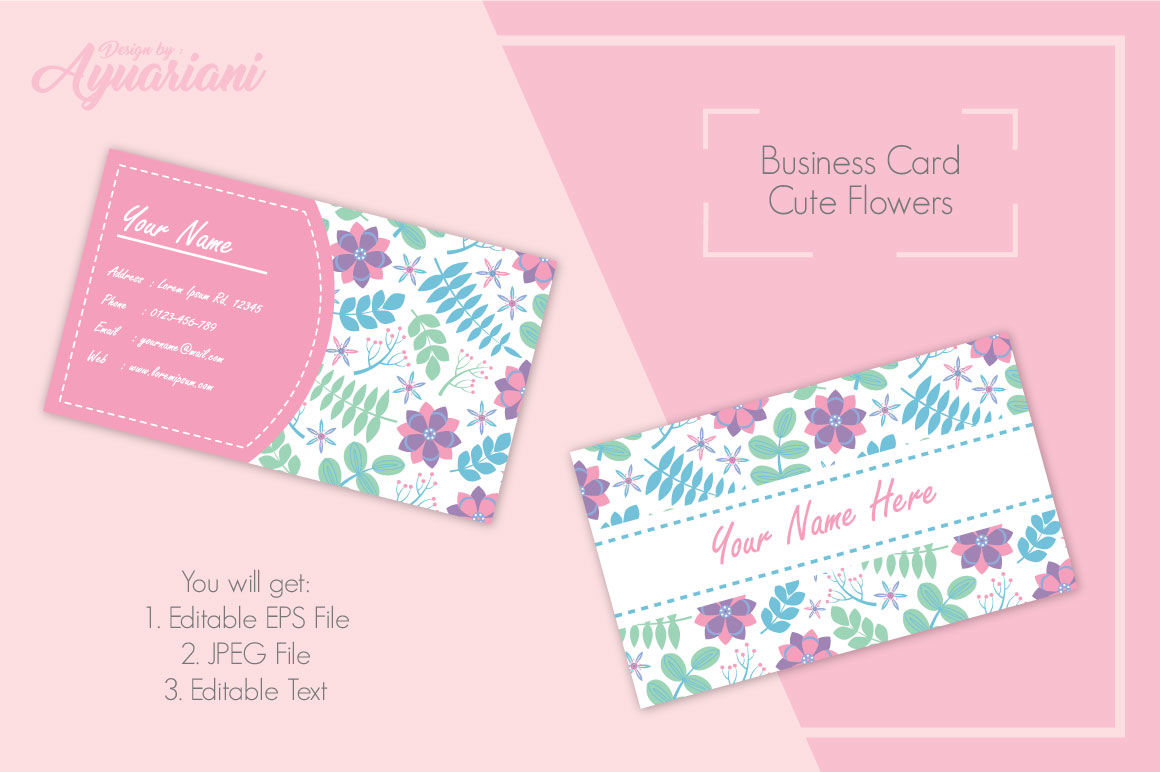 Invitation Card Vector Design Template With Purple And Pink