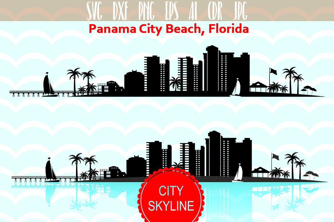 Panama City Beach Svg Florida Vector Skyline By Dreamer S Designs