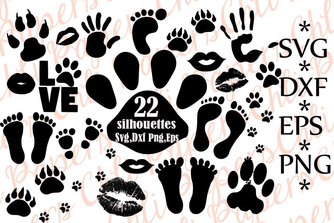 Download Paw Prints Silhouettes Svg,FOOT PRINT SVG, Palm Prints Svg ...