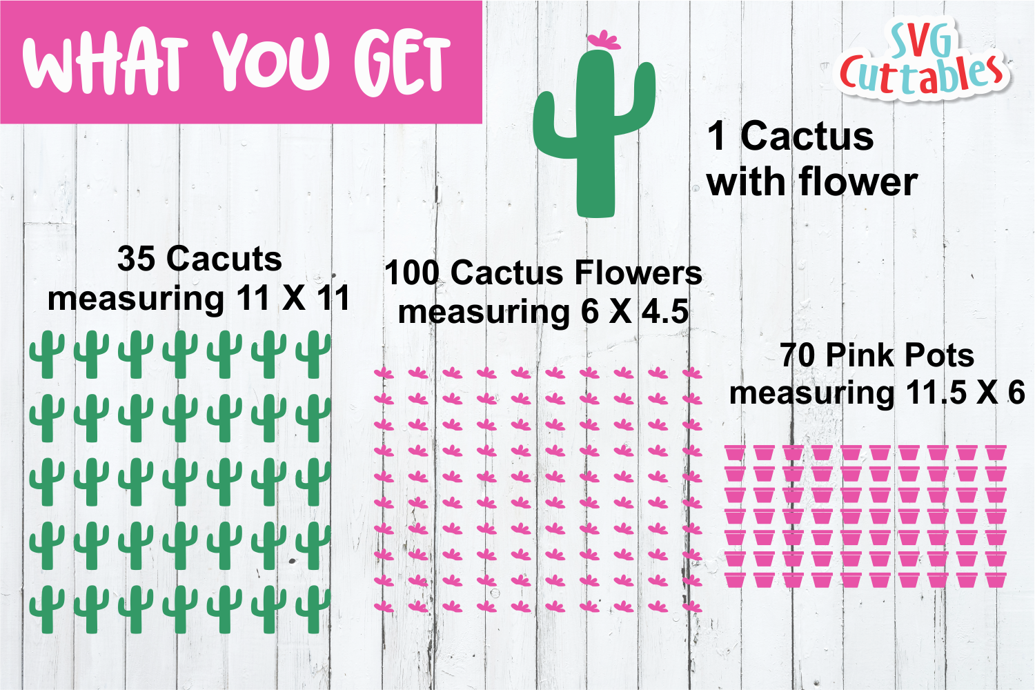 Cactus Cut File By Svg Cuttables Thehungryjpeg Com