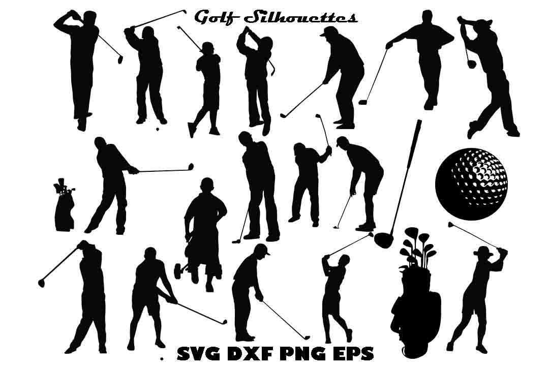 Download Golf Silhouette DXF PNG SVG EPS By twelvepapers ...