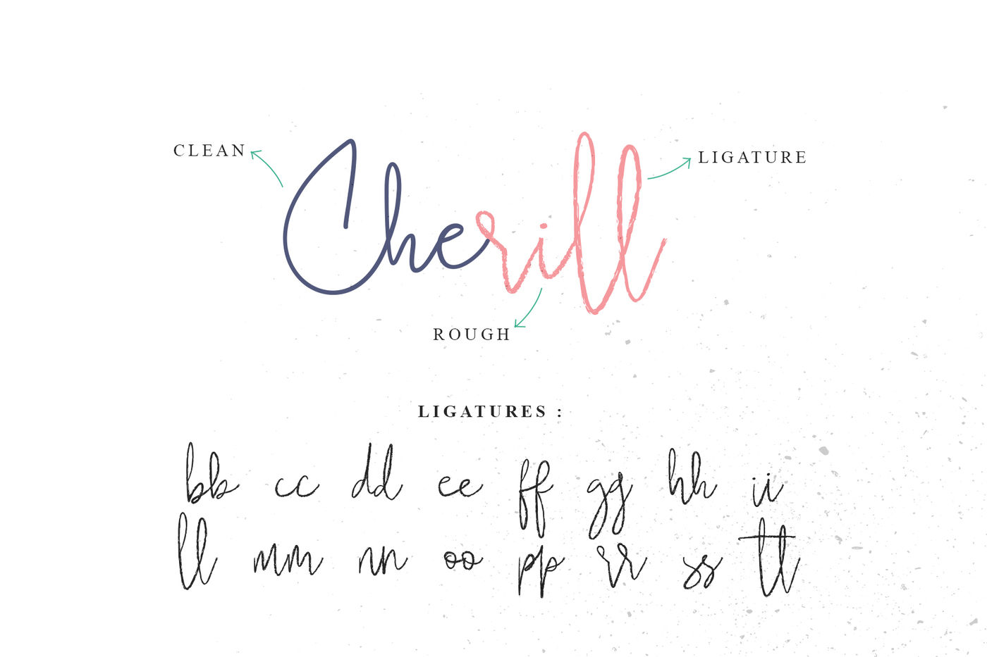Cherill Rough Clean By Awanstudio Thehungryjpeg Com