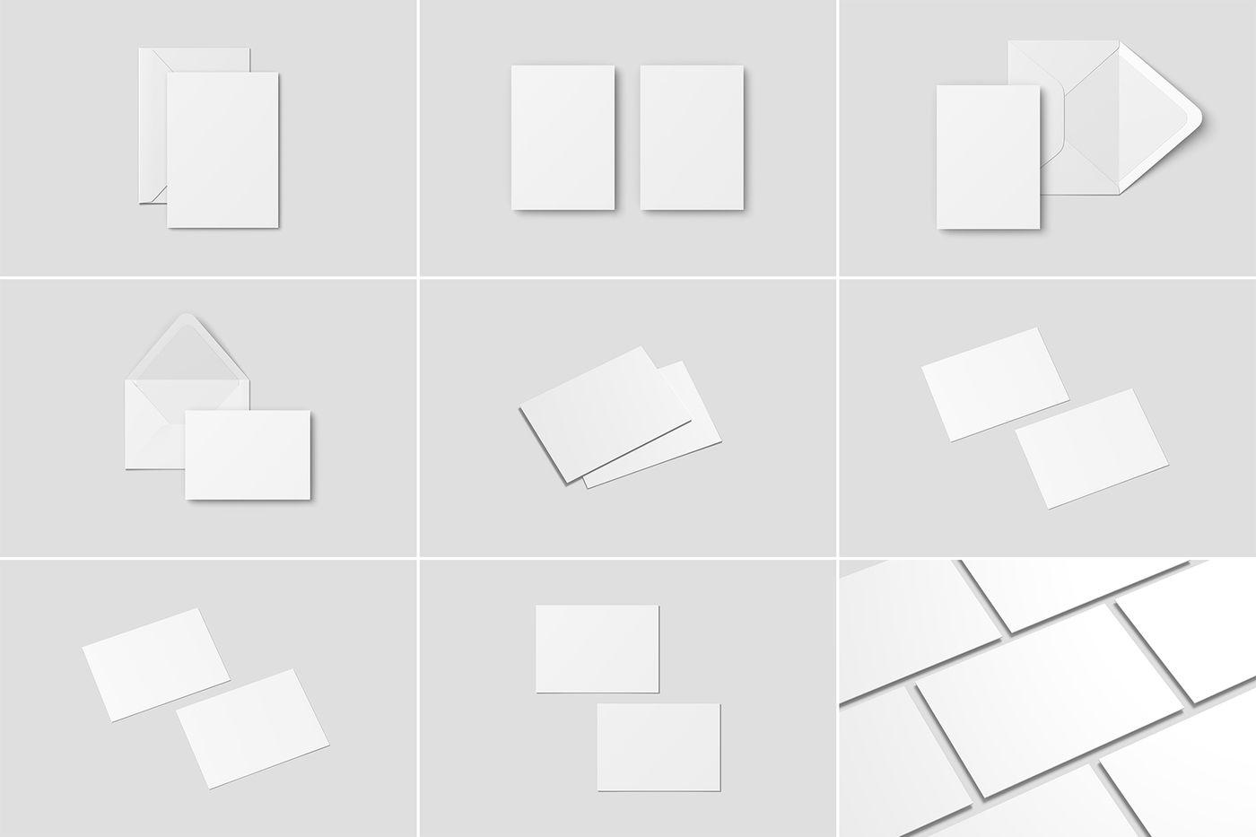10 Envelope Psd Mockup