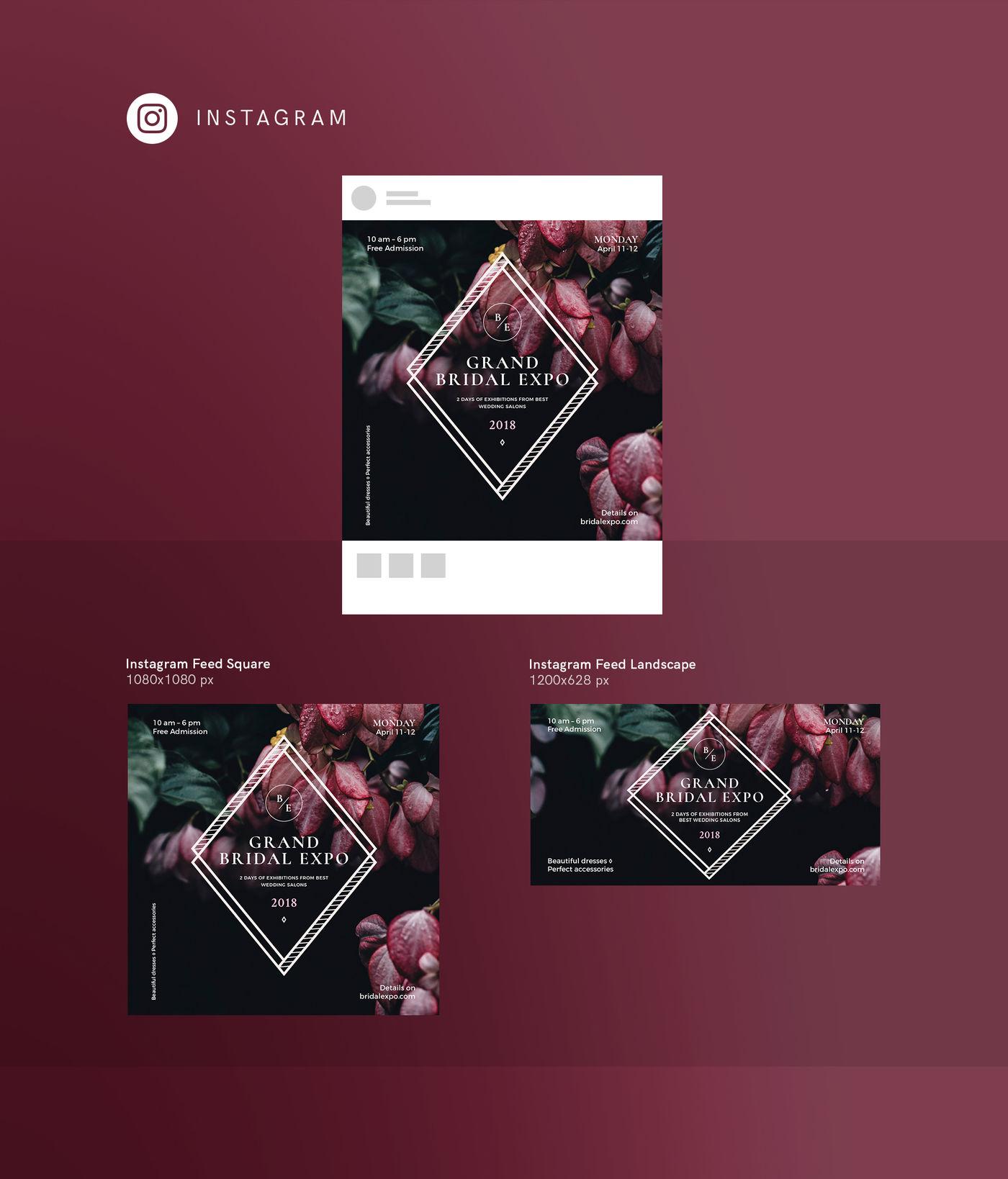 Design templates bundle | flyer, banner, branding | Bridal