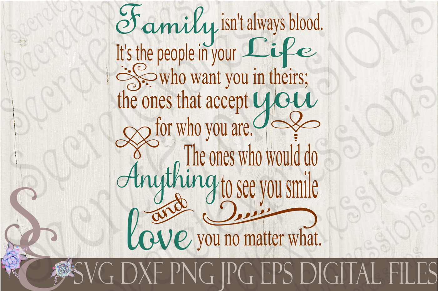Family Isn T Always Blood Svg By Secretexpressionssvg