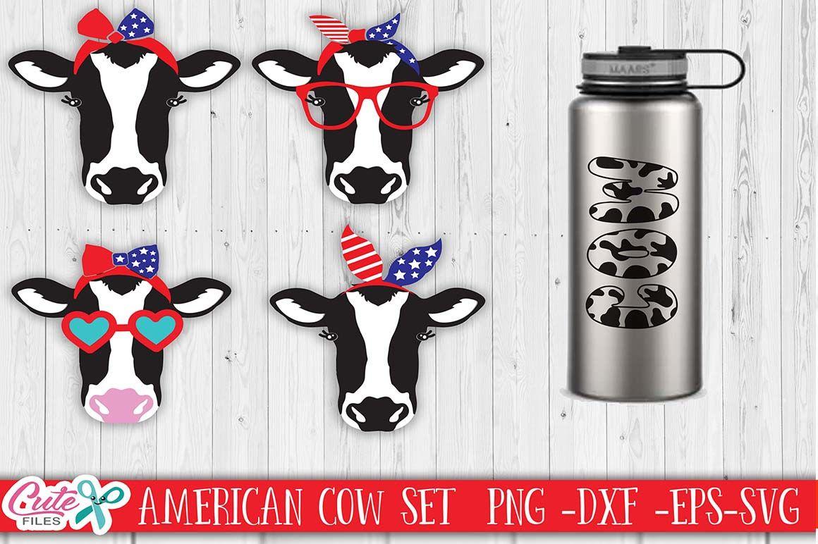 Set Patriotic Bandana Heifer Cow Face Svg Four Of July Sunglass