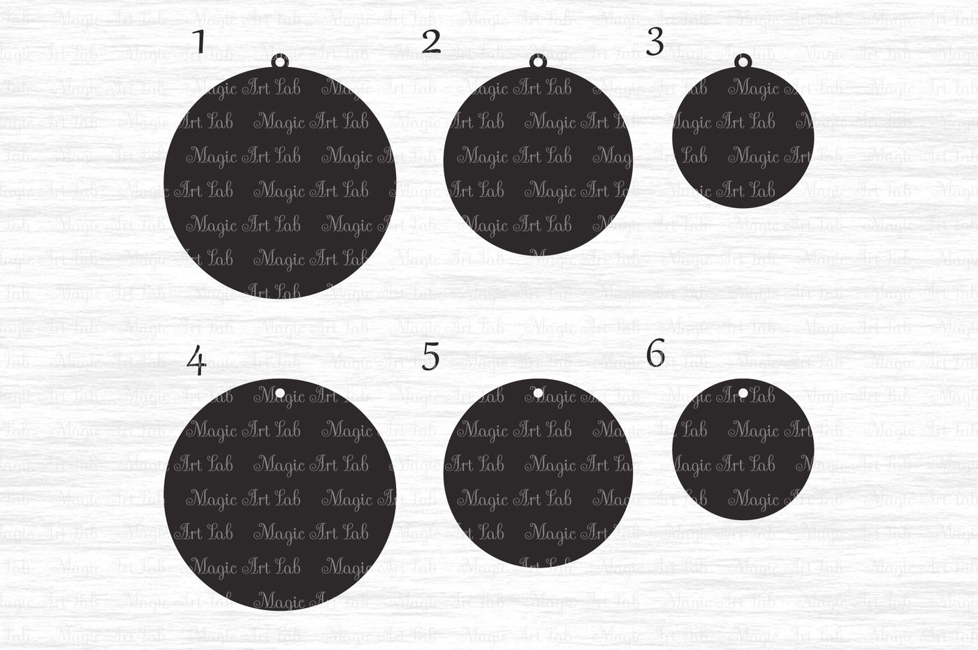 Circle Earrings Svg Dxf Eps Ai Png Pdf Jpeg By Magicartlab