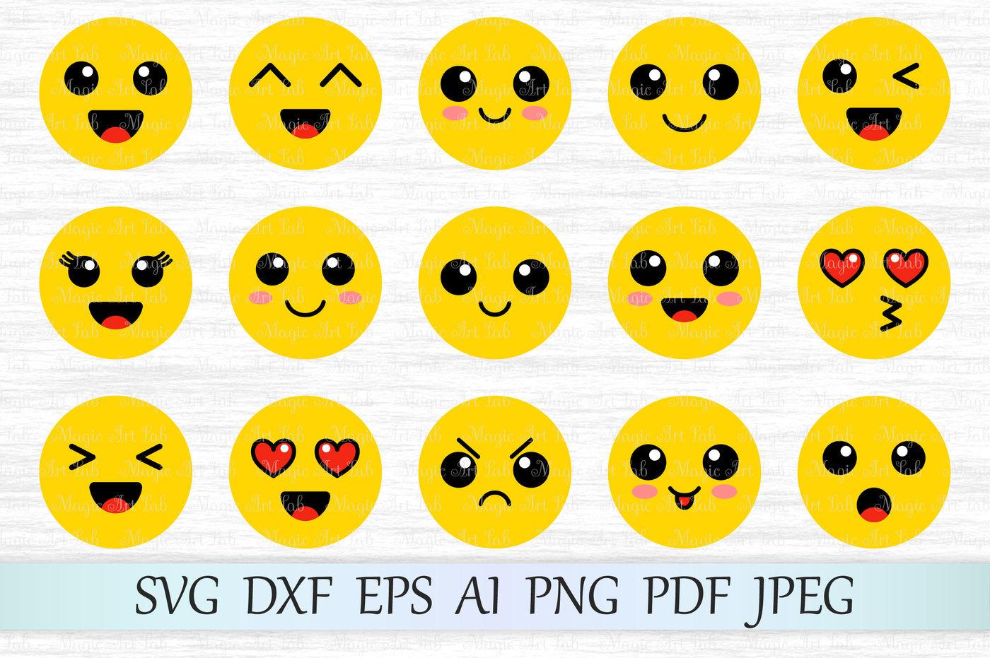 Emoji Svg Dxf Eps Ai Png Pdf Jpeg By Magicartlab