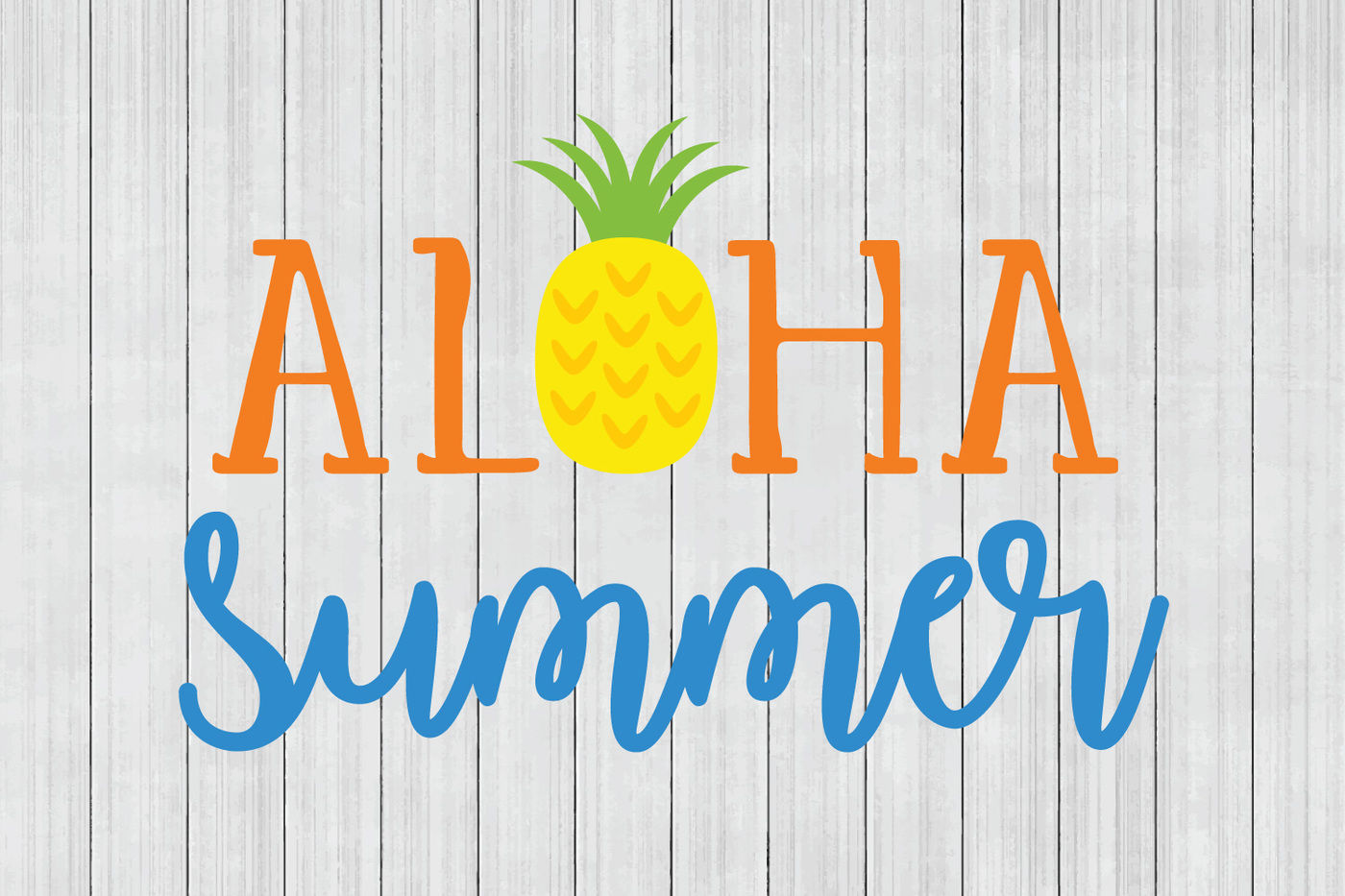 Aloha Summer Svg Beach Svg Dxf File Cuttable File By Bnr Designs Thehungryjpeg Com