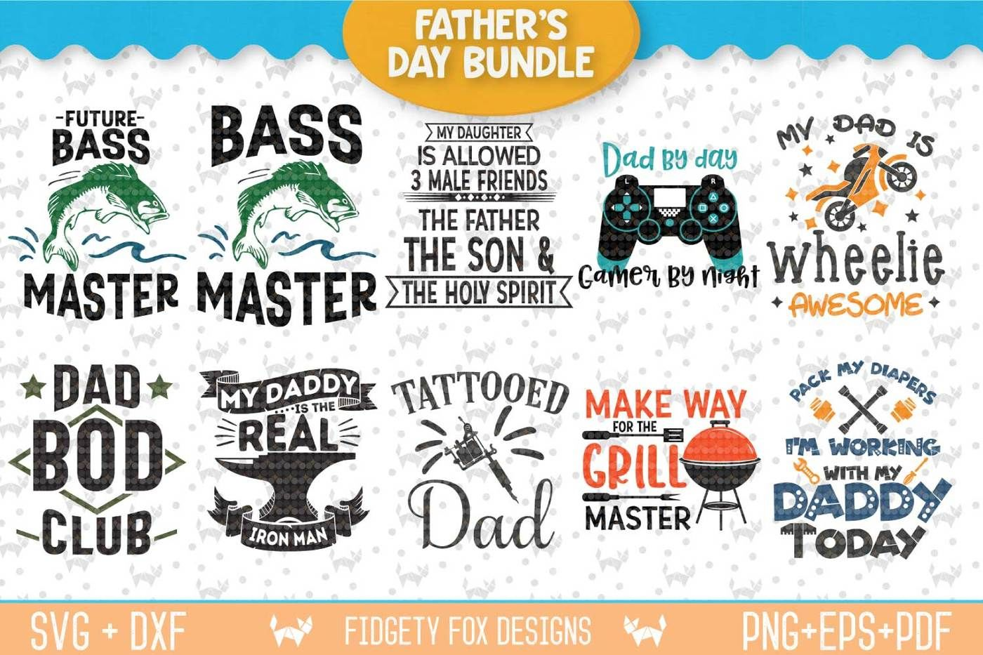 Free It also works great for sublimation printing. Fathers Day Fishing Svg SVG, PNG, EPS, DXF File