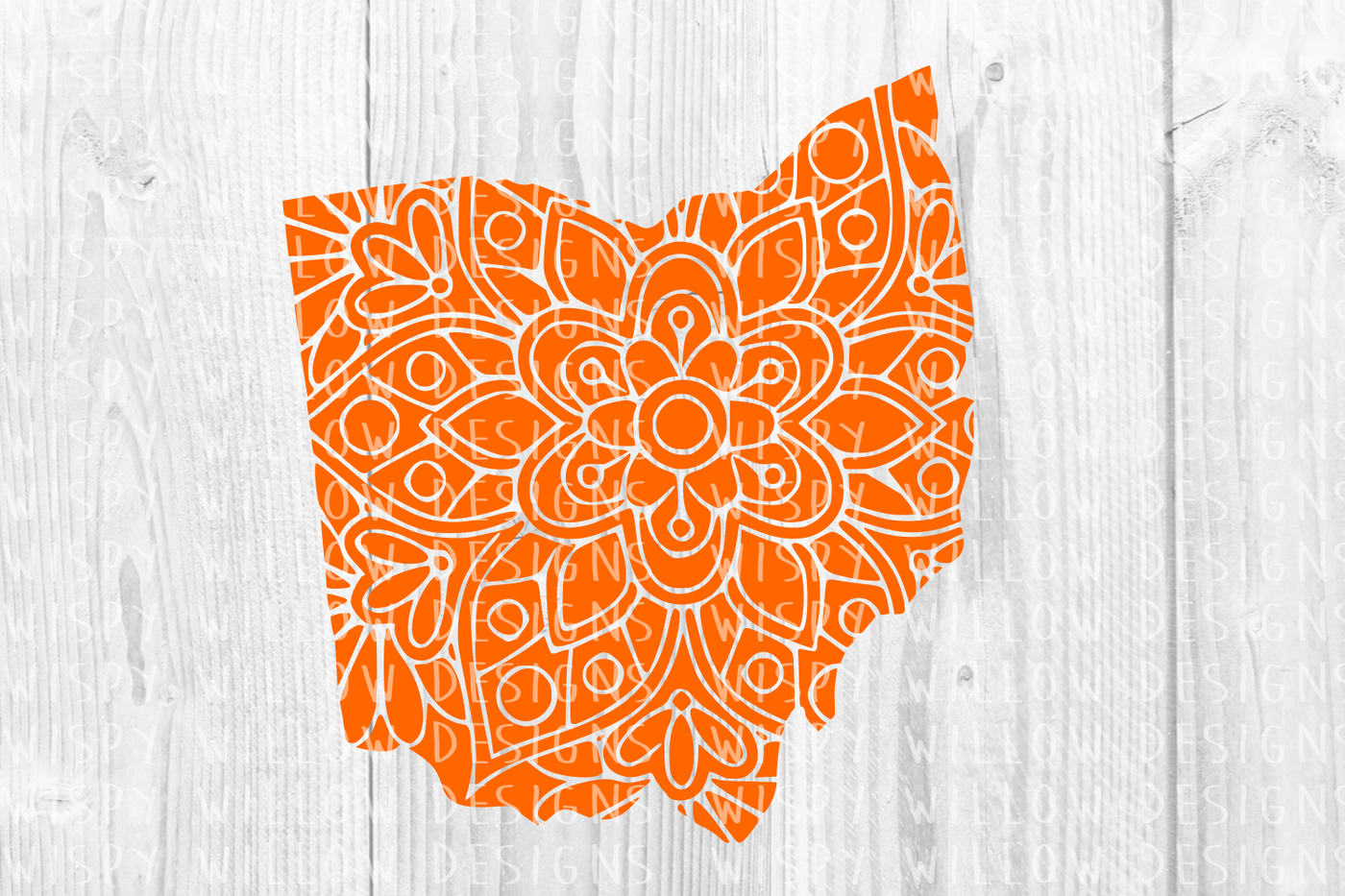 Ohio Oh State Mandala Svg Dxf Eps Png Jpg Pdf By Wispy Willow