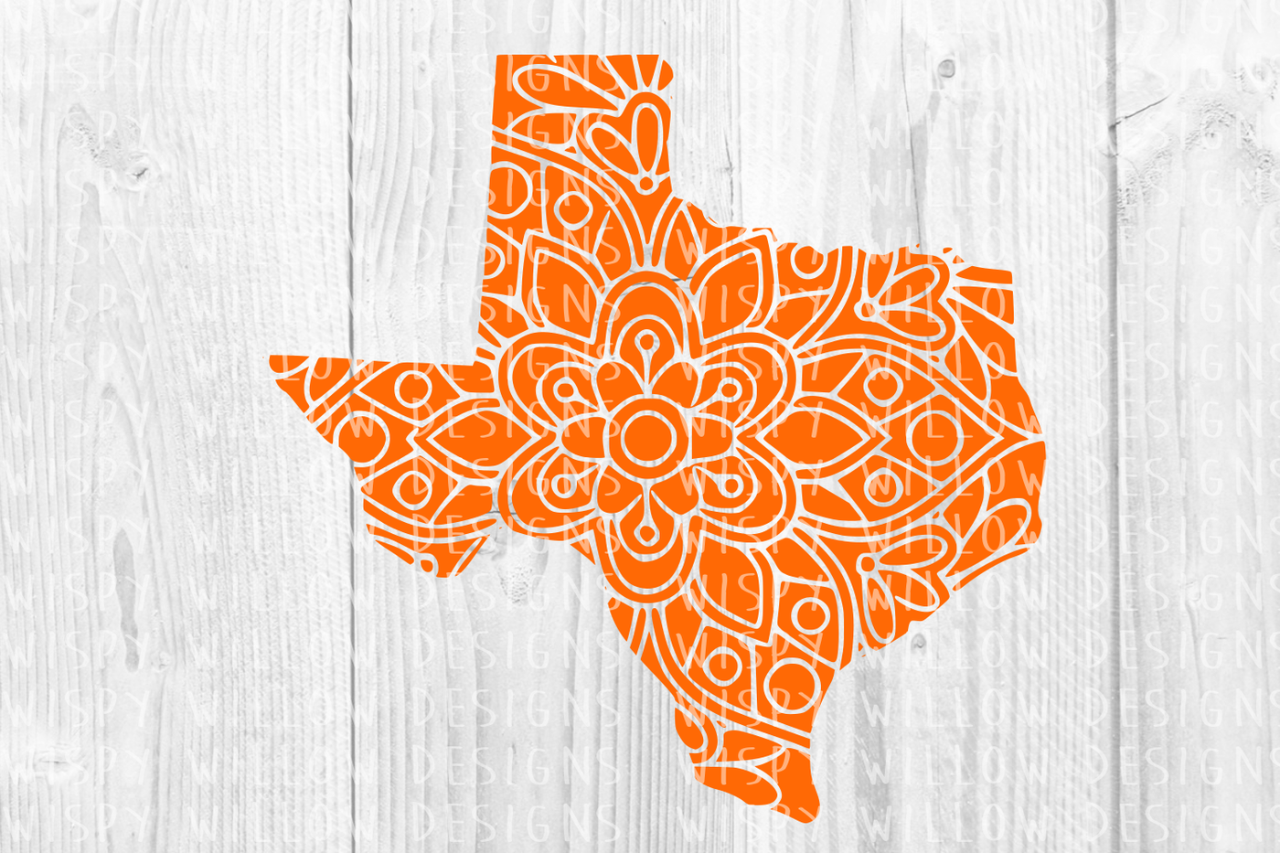 Texas Tx State Mandala Svg Dxf Eps Png Jpg Pdf By Wispy Willow