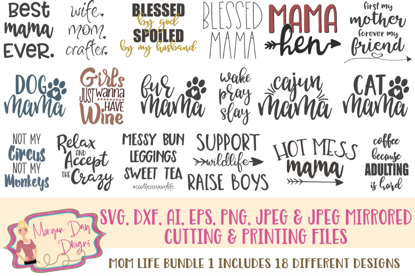 Mom Life Svg Bundle 1 By Morgan Day Designs Thehungryjpeg Com