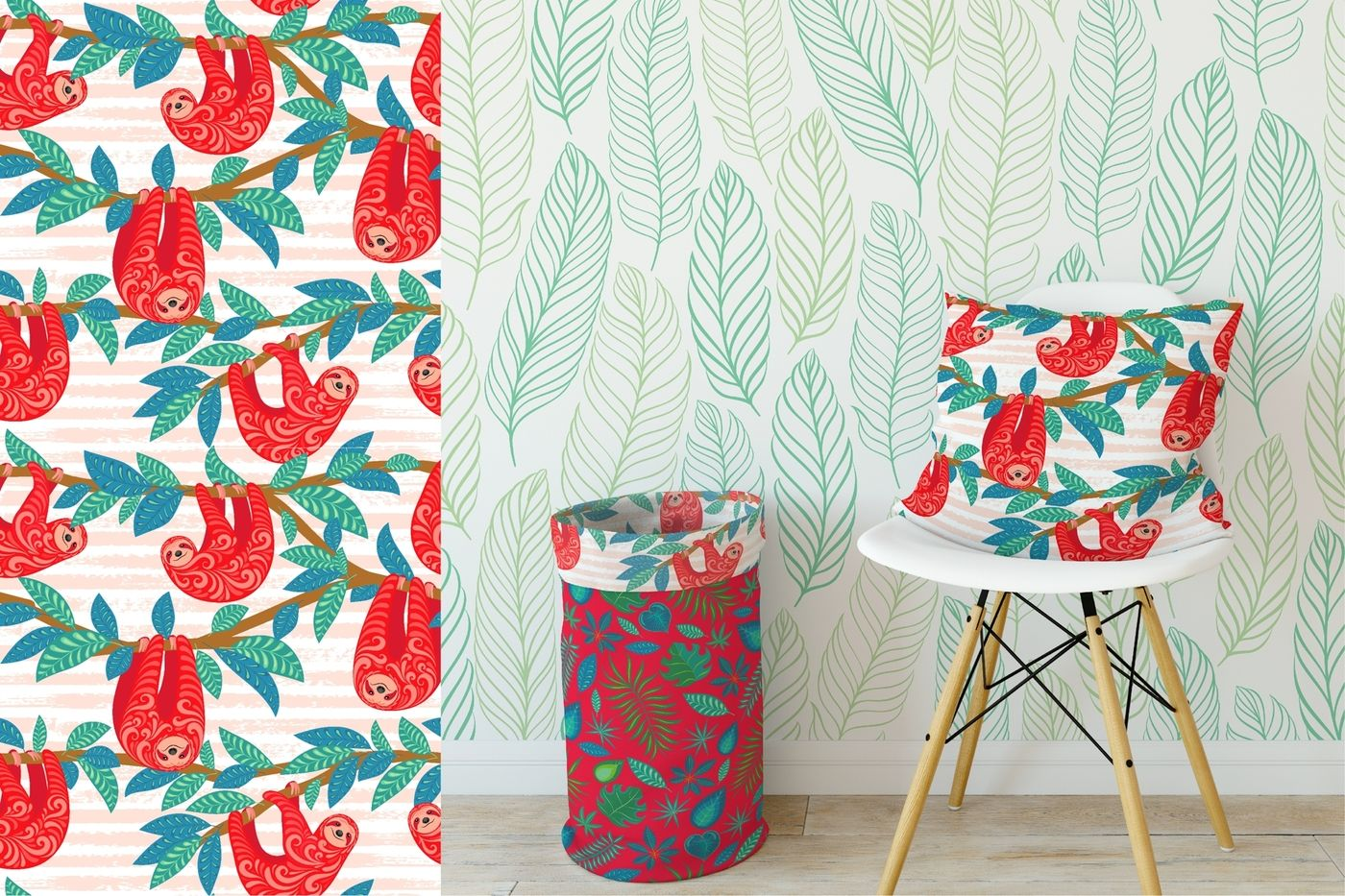 Tropicana 30 Seamless Patterns By Irina Skaska Thehungryjpeg Com