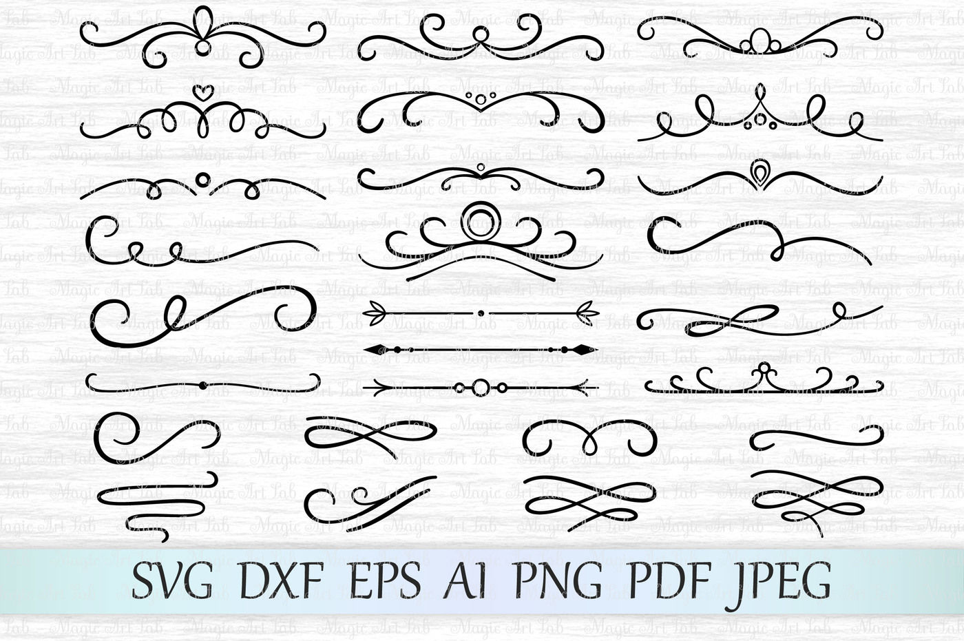 Flourish Svg Swirl Svg Divider Svg Scroll Svg Flourish Cut