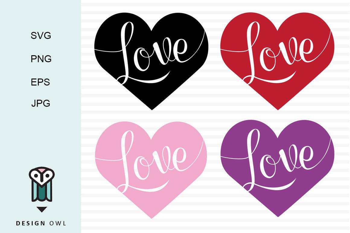 Love Hearts Svg Png Eps Jpg By Design Owl Thehungryjpeg Com