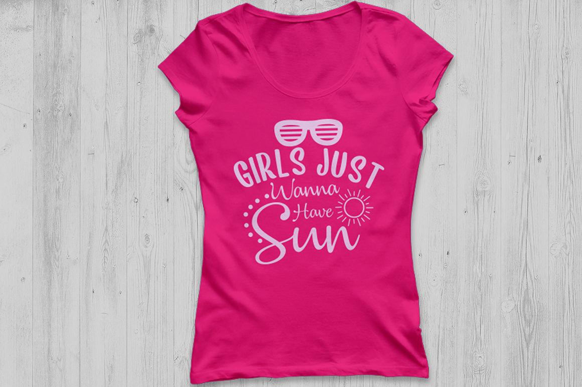 Girls Just Wanna Have Sun Svg Summer Svg Beach Svg Sun Svg By