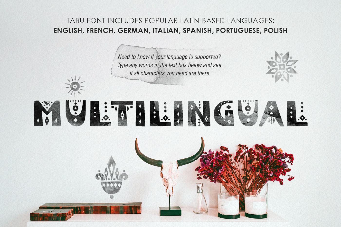 Tabu Tribal Font Family By Struvictory Art Thehungryjpeg Com