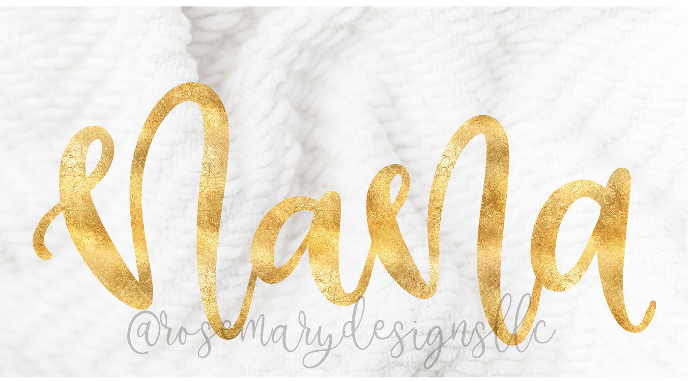 Nana Hand Lettered Svg By Rosemary Designs Thehungryjpeg Com