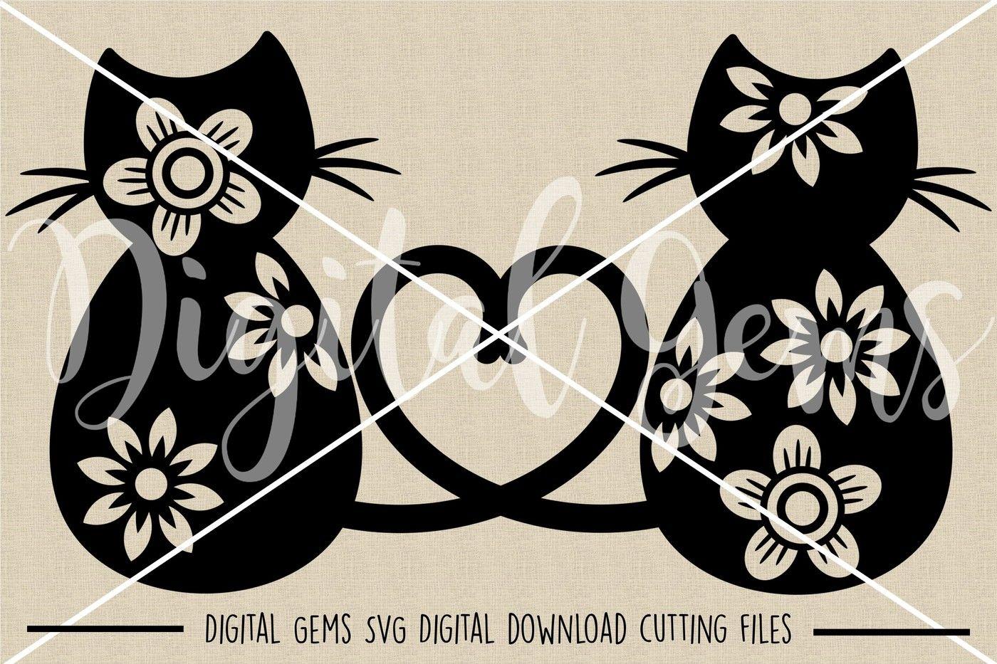 Cat Lover Svg Dxf Eps Png Files By Digital Gems