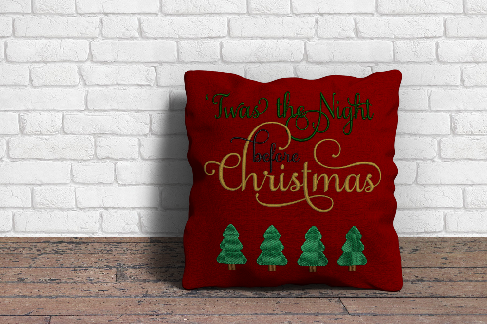 Twas The Night Before Christmas Embroidery By Designed By Geeks