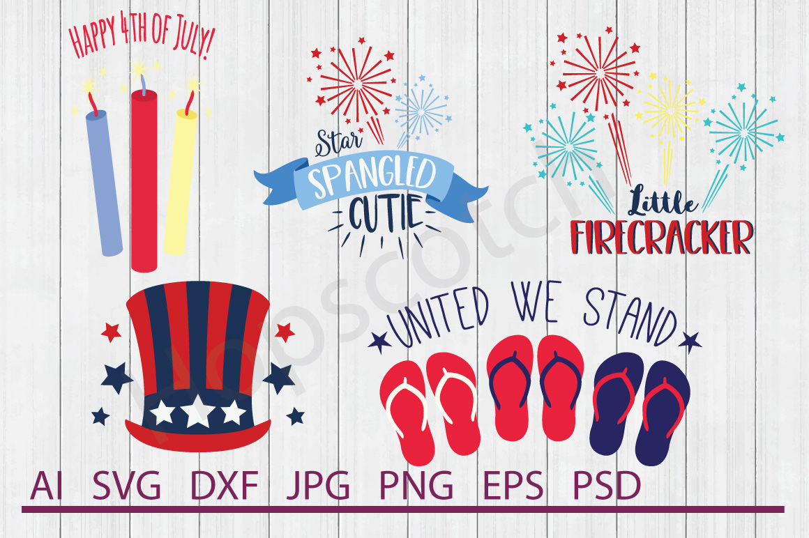 Fourth Of July Bundle Svg Files Dxf Files Cuttable Files By