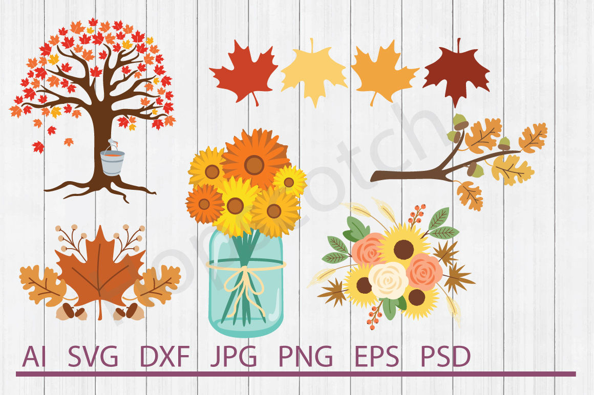 Autumn Bundle Svg Files Dxf Files Cuttable Files By Hopscotch