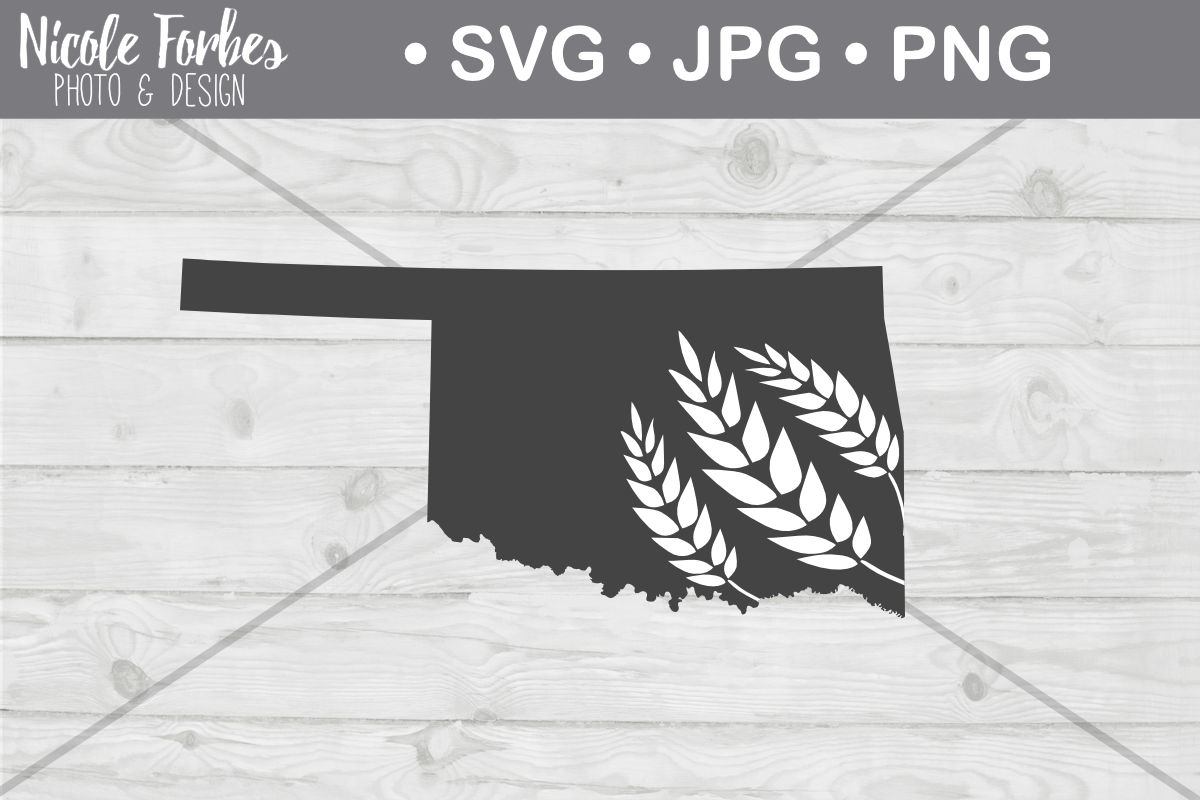 Oklahoma Wheat Svg Cut File By Nicole Forbes Designs