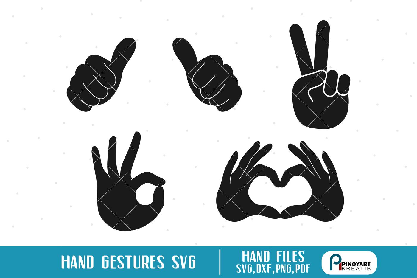 Hand Gesture Svg Hand Svg Hand Sign Svg Peace Sign Svg Heart