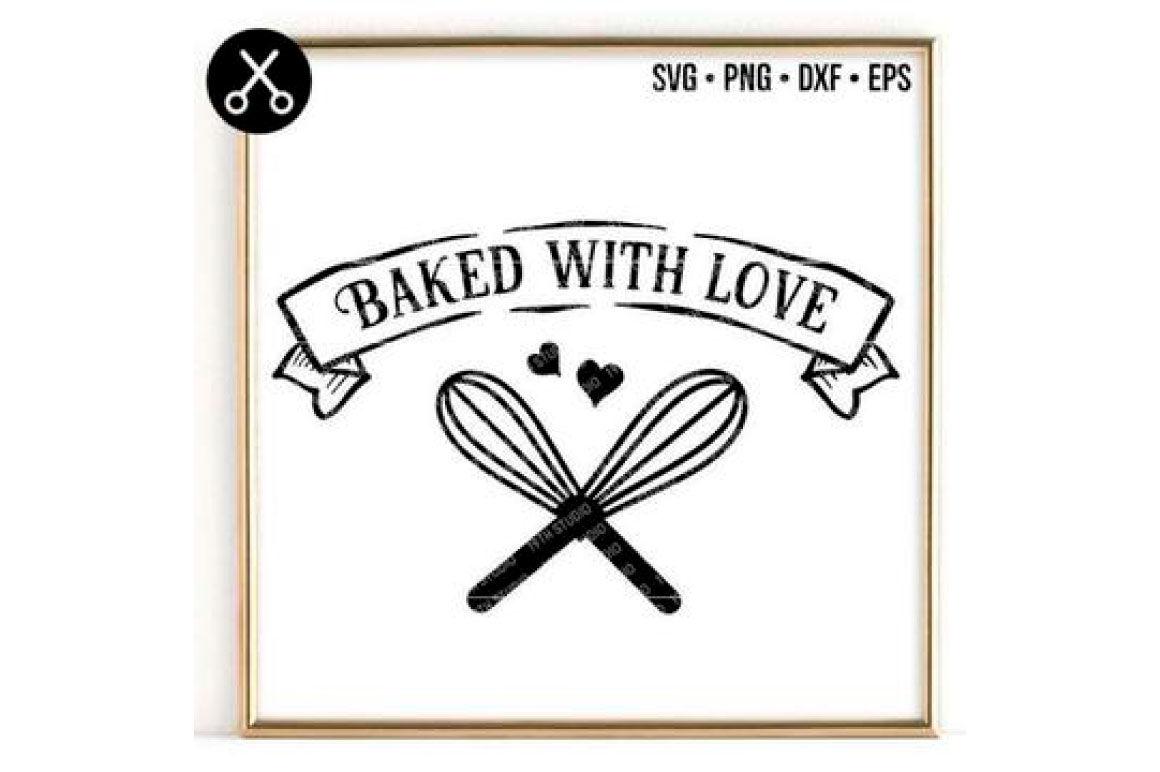 Baked With Love PNG Digital Download SVG