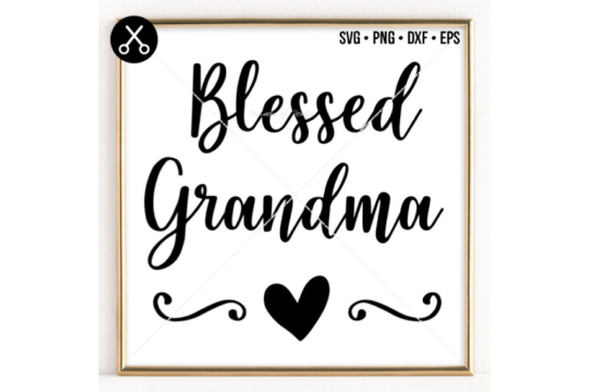 Blessed Grandma Svg 0053 By 19th Studio Thehungryjpeg Com