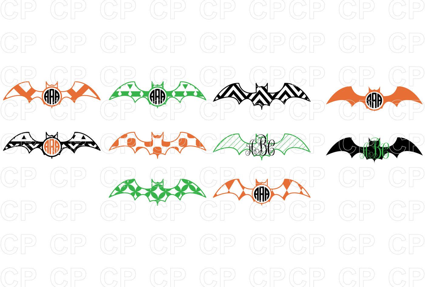 Halloween Bat Bundle Svg Cut Files Halloween Clipart By