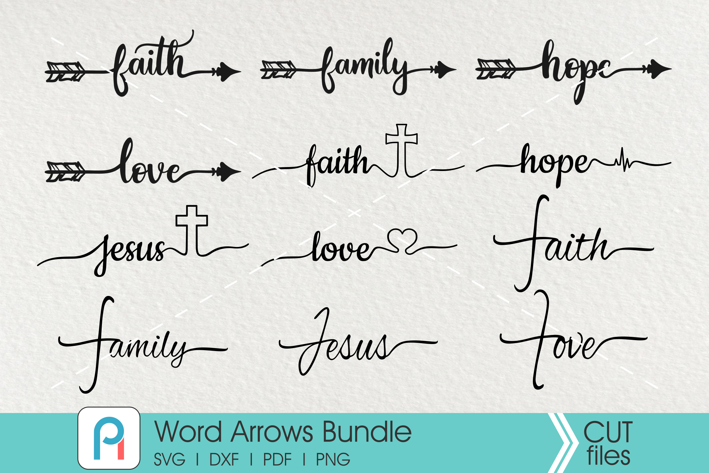 Arrow Svg File Arrow Word Art Svg Faith Svg Family Svg Jesus