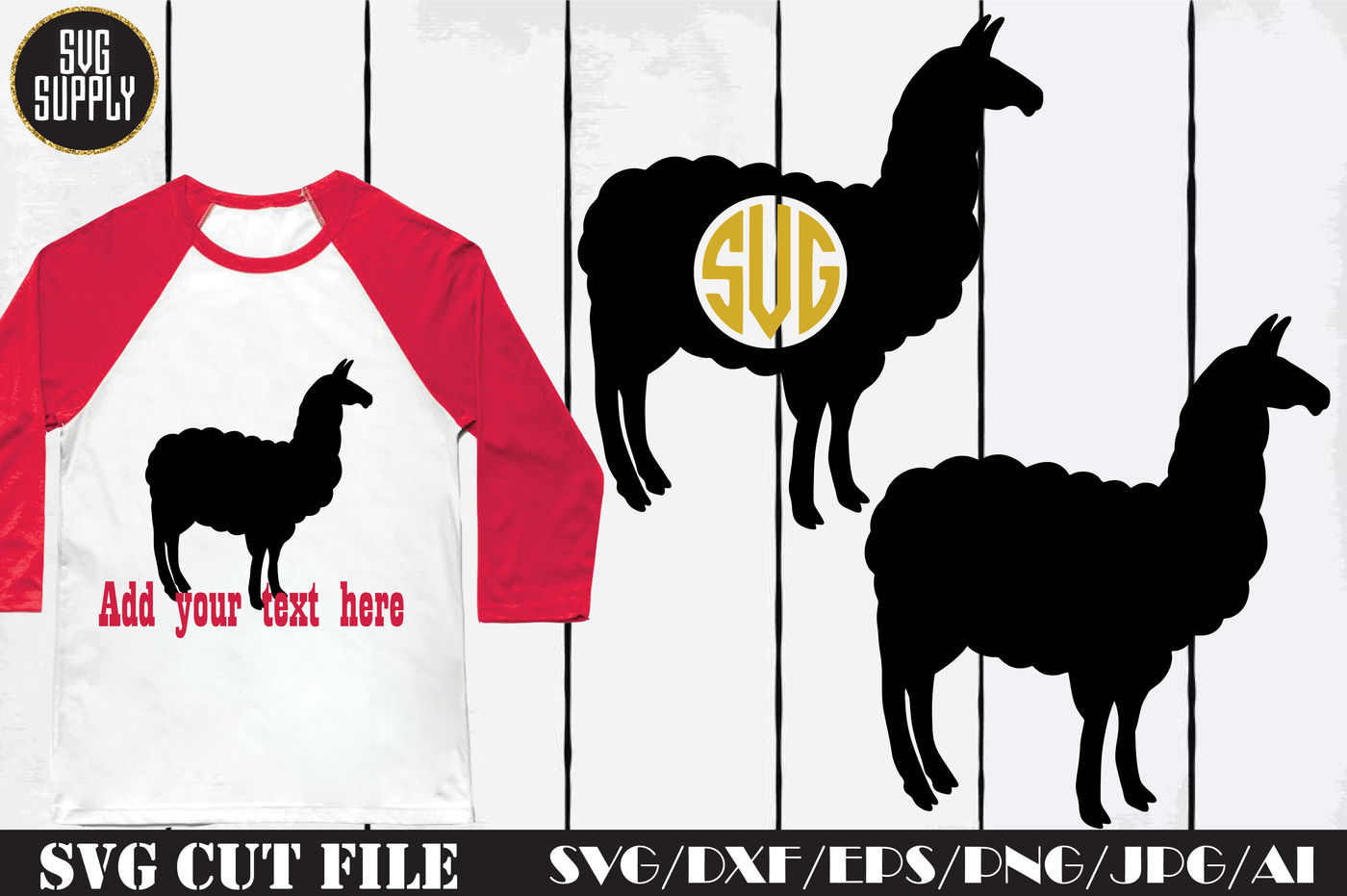 Llama Monogram Svg Cut File By Svgsupply Thehungryjpeg Com